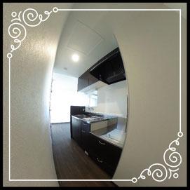 キッチン②室内↓360°画像によるバーチャル内覧はこちら。↓グレースガーデンN30-202号室