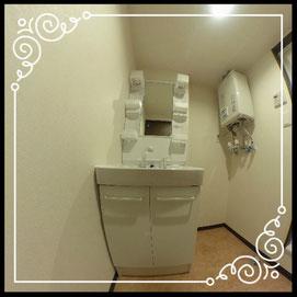 洗面台↓360°画像によるバーチャル内覧はこちら。↓グレースガーデンN30-201号室