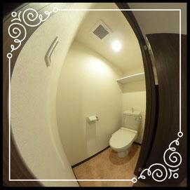 トイレ①↓360°画像によるバーチャル内覧はこちら。↓グレースガーデンN30-203号室