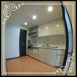 キッチン①↓パノラマで内覧体験できます。↓D'グラフォート札幌ステーションタワー511号室