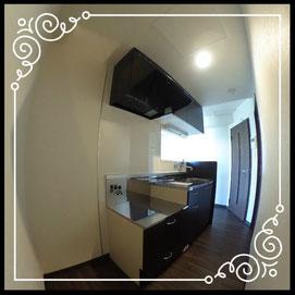 キッチン②↓360°画像によるバーチャル内覧はこちら。↓グレースガーデンN30-201号室