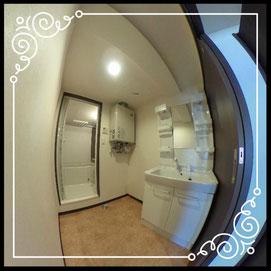 洗濯機置場①↓360°画像によるバーチャル内覧はこちら。↓グレースガーデンN30-203号室
