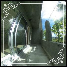 テラス①↓360°画像によるバーチャル内覧はこちら。↓レジデンスパーク札幌北