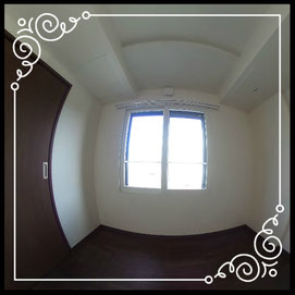 洋室②眺望↓360°画像によるバーチャル内覧はこちら。↓グレースガーデンN30-202号室