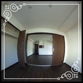 洋室③からリビング↓360°画像によるバーチャル内覧はこちら。↓グレースガーデンN30-201号室