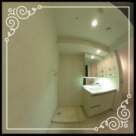 洗濯機置場↓パノラマで内覧体験できます。↓D'グラフォート札幌ステーションタワー511号室