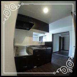 キッチン①↓360°画像によるバーチャル内覧はこちら。↓グレースガーデンN30-203号室