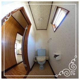 2階トイレ↓パノラマで内覧体験できます。↓