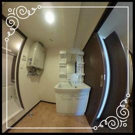 洗面台①↓360°画像によるバーチャル内覧はこちら。↓グレースガーデンN30-203号室