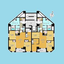 2-8階平面図