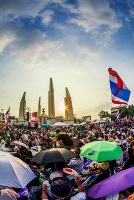 Bangkok November 2013: Proteste gegen die Regierung