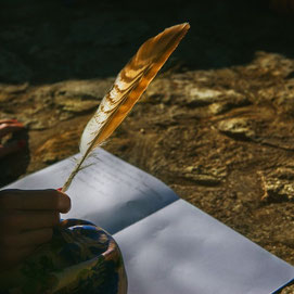 feather journalling ritual the art of ritual and sacred space cacao mama earth school