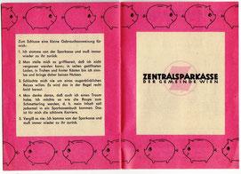 Sparschwein der Sparkasse mit Familie Spargern 1965.