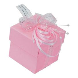 kleine Geschenkschachtel mit Deckel rosa
