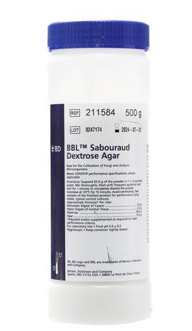 211584 BD BBL™ Agar Dextrosa Sabouraud, 500 g