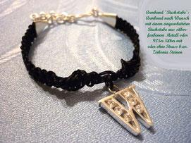 Silver Star Armband mit Buchstabenanhänger aus 925er Silber mit Zirkonia Steinen