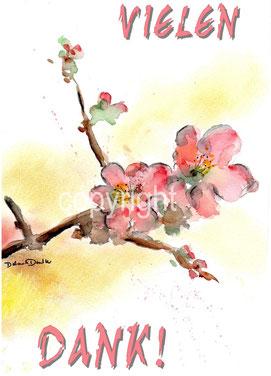 Blüte und Dank