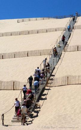 La dune et son escalier de 160 marches