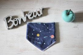 bandana bavoir constellation made in france handmade