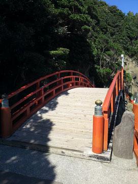 鵜戸神宮の千鳥橋の写真