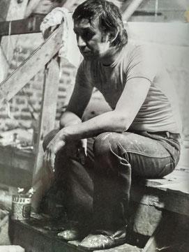 marc dans son atelier, 1980