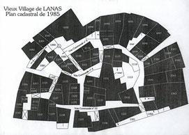 Plan redessinné d'après le cadastre de 1985.