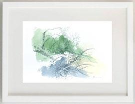 CADUCITY N° 1, Penna a sfera e acquerello, 30 x 20