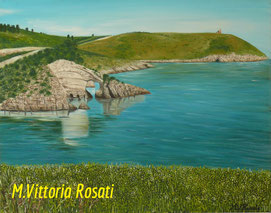 The Arc of San Felice in Puglia, oil painting on canvas, cm 40x50, year 2008