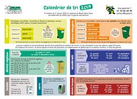 Calendrier du tri commune du Mesnil Saint Denis (2019)