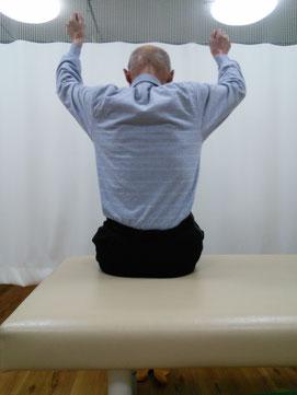 施術前 肩が痛い