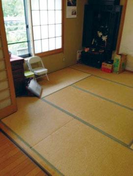 床材の変更 改修前