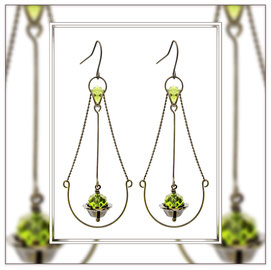 Juna ° The Floating Beauty ° Filigree Drop Earrings * Designed and Manufactured by Elfgard® Germany