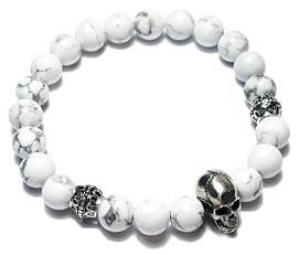 BEHERO Designer Armband Skull (weiß)