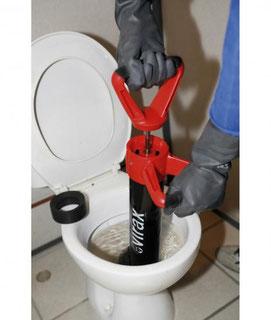 Debouchage d'un toilette pompe Manuelle La Ciotat