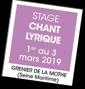 Stage de Chant lyrique avec Nathalie Milon, A vous de jouer
