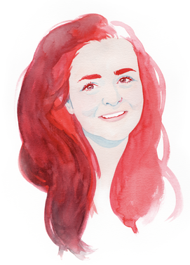 Portrait, Editorial, Wasserfarbe, Aquarelle, Illustration, Frauenzeichnung, Frauenportrait