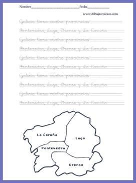 caligrafía comunidad gallega