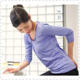 新宿区神楽坂にある「坐骨神経痛専門」スタジオ セラフィットで施術を受ける前の女性