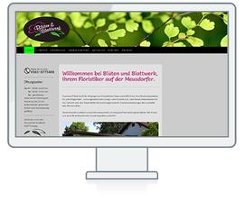 Website Referenz Blüten und Blattwerk