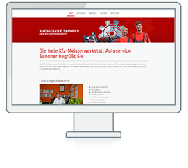 Website Referenz Autoservice Sandner