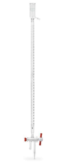 Bureta de cero automática clase B con llave de PTFE y depósito de llenado 17051F
