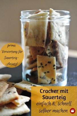 Cracker mit #Sauerteig #sauerteigreste #knabbergebäck #thermomixrezept