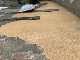 シャビーシック 広島外構 外構広島 お庭づくり シャビーシック外構 マイホーム 外構 エクステリア 枕木 レンガ