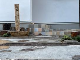 ドッグラン 木柵 かわいい外構 広島外構 外構広島 お庭づくり プライベート ガーデン 外構 マイホーム 外構 エクステリア 枕木 レンガ