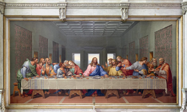 Leonardo da VINCI , das letzte Abendmahl