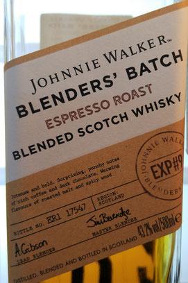 Johnnie Walker The Blenders' Batch Espresso Roast Etikett