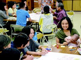 基本構想・基本計画策定に関わるワークショップが開かれた=27日夜、川平公民館