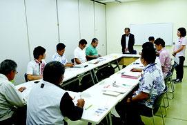 第1回波照間航路分科会が開かれた=9日、離島ターミナル会議室