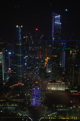Aussicht vom Canton Tower auf Guangzhou