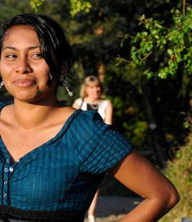 Junge Frau aus Nicaragua